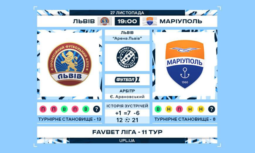 Матч 11-го туру Favbet Ліги «Львів» – «Маріуполь»
